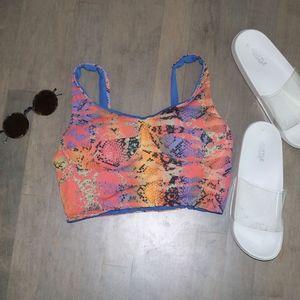 SAN LORENZO Snake Print Reversible Swim Tank Top